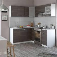 Vicco Küche Rick L Form Küchenzeile Küchenblock Einbauküche 167x187cm  Anthrazit
