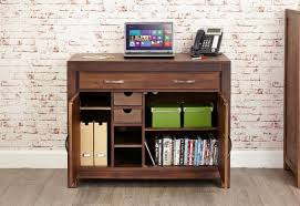 solid walnut hidden home office. Baumhaus Mayan Walnut Hidden Computer Desk Solid Home Office