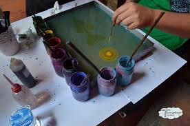 ebru painting paper marbling at caferaga medresseh in sultanhamet istanbul