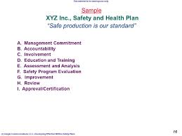 sample safety plan sample safety plan professional template shop business templates