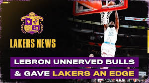The Ridiculous Way LeBron James Unnerved Bulls & Gave The Lakers A Major  Advantage - YouTube