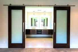 bathroom doors sliding glass bathroom door sliding door for bathroom top barn s with nickel brushed