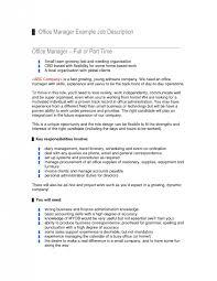 Office Manager Job Description For Resume Outathyme Com