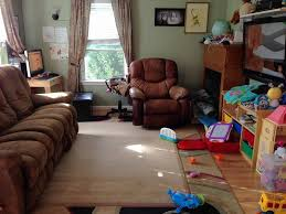 big furniture small room. cindy walku0027s cramped living room lacks storage needed to hide away toys big furniture small m