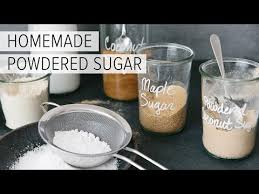 how to make powdered sugar in 30