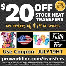 Stock Heat Transfer Designs Stock Heat Transfers At Pro World Pro World Inc Pro World Inc
