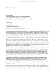 Recomendation Letters Sample Of Recommendation Letter For University Admission Top Form