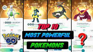 Top 10 most powerful pokemons in pokemon go | Top strongest pokemon | best  pokemon in pokemomgo 2020 - YouTube