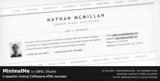 Resume Html Template Magnificent 48 Free ResumeCV HTML Website Templates And Layouts Designmodo