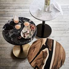 black marble round bistro table small