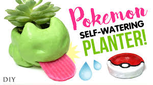 diy self watering planter inspired by pokemon go testing diy oven fired ceramic clay you