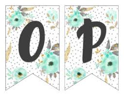 Printable Letter For Banners Free Printable Alphabet Banner Mint Gold Six Clever Sisters