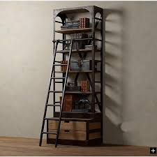 Wooden Ladder Display Stand Mesmerizing American LOFT Style Wrought Iron Shelves With Ladder Shelves Display