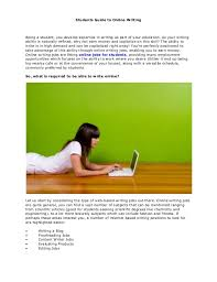 students guide to online writing students guide to online writing being a student you develop expertise in writing as part