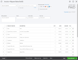 how the invoice appears in quickbooks for square