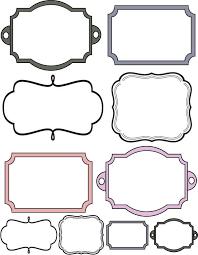 printable bracket frame. Printable Frame Templates Bracket