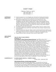 Cfo Resume Hospital Housekeeping Resume Examples Of Resumes Administration 52