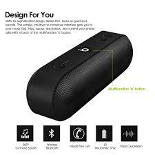beats bluetooth speakers. beats pill+ bluetooth speaker portable 360° stereo sound box 12 hours playtime home aux built-in mic for smartphone tablet pc laptop speakers
