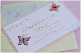 erfly birthday invitation