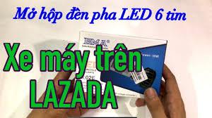 Mở hộp đèn pha LED 6 tim cho xe máy - YouTube