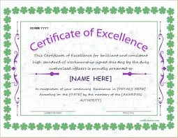 Award Of Excellence Certificate Template Certificate of Excellence Template for MS Word DOWNLOAD at http 73