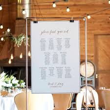 Printed Seating Chart On Stand