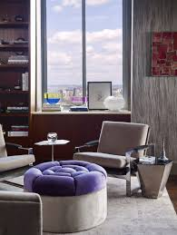 Purple Decor For Living Room Indulge Yourself With Purple Decor At A Manhattan Penthouse