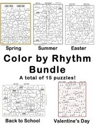Check out our coloring sheets for kids selection for the very best in unique or custom, handmade pieces from our coloring books shops. Color By Rhythm Worksheets Teaching Resources Tpt