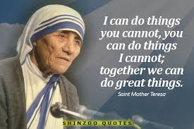 Mother Teresa Quotes Amazing Saint Mother Teresa Quotes 48 We Belong To Each Other Mother 48
