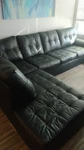 black leather sectional with ottoman for in naperville il offerup