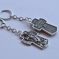 archangel saint michael pendant st michael angel protection keyring talisman key chain catholic pray for us keychain flashlight best keychain from w245