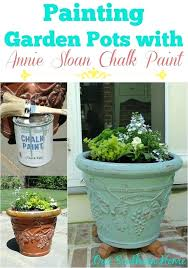 outdoor chalk paint our southern home painting garden pots with chalk paint diy outdoor chalk paint