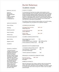 Academic Resume Examples Beauteous Academic Cv Example Template Professional Furthermore Of Four Page