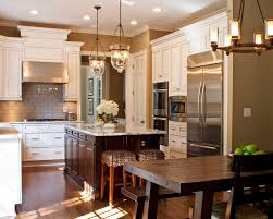 glorious rectangular chandelier over traditional kitchen in atlanta with throw pillows and decorations
