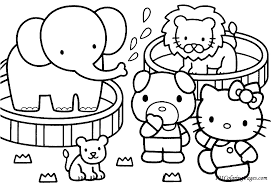 Small Picture Free Printable Kitty Coloring Page With Cute Elephant Also Baby
