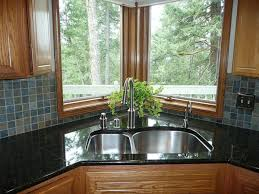 Kitchen Sinks For Granite Countertops Kitchen Nook Plus Stools Faced Corner Sink Plus Faucet Designed