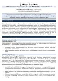 Hospitality Resume Examples - Resume Professional Writers