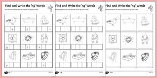 A collection of english esl worksheets for home learning, online practice, distance learning and english classes to teach about phonics, phonics. Find And Write Ng Worksheets Primary Resources Qu First Grade The Words Differentiated Qu Worksheets First Grade Worksheets Geometric Constructions Practice Solve Every Math Problem Multiplying Dividing Fractions Test Prep Games 3rd
