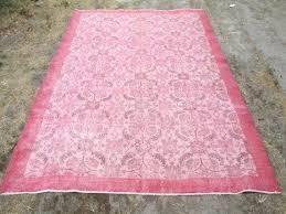 rug pale pink vintage overdyed light