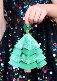 Paper Christmas Tree Ornaments Folded Paper Christmas Tree Ornaments What Can We Do With Paper