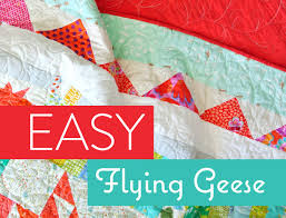 Flying Geese Quilt Pattern Interesting Super Simple Flying Geese Quilt Tutorial Suzy Quilts