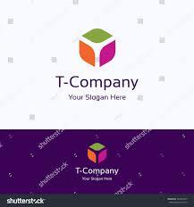 stock vector t letter alphabet box cube d hexagon logo