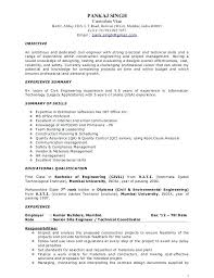 Builders Resume Example Resume Construction Project Manager