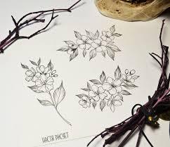 сделать татуировку цветы вишни в городе москва по эскизу мастера