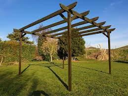wooden garden pergola kit 42