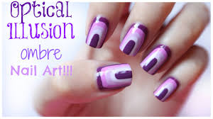 Optical Illusion Ombre Nail Art! No Tools Needed ...