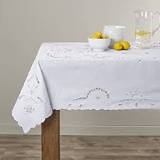 Tablecloths - White / Round / Tablecloths / Kitchen ... - Amazon.com