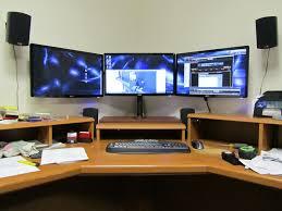 diy triple monitor stand my take on it h ard