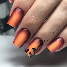 COOL fall ombre nail art design idea for acrylic and gel nails ...