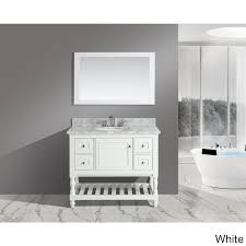 42 Bathroom Vanity Silvia 42 Inch Bathroom Sink And Vanity Set With White Italian